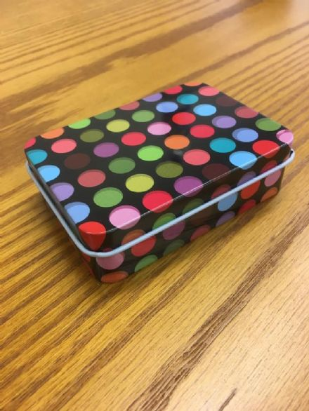 Travel Tin - Black with Dots